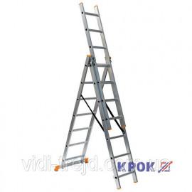 Лестница-стремянка 3х7 КРОК, алюминиевая