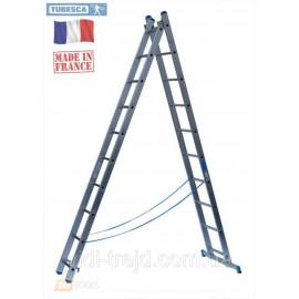 Лестница алюминиевая 2х7, Tubesca Франция