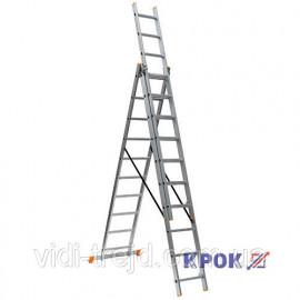 Лестница-стремянка 3х10 КРОК, алюминиевая
