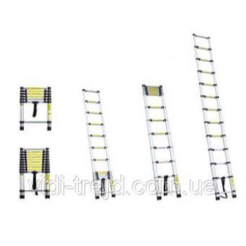 Телескопическая приставная лестница 12Т