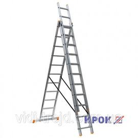 Лестница-стремянка 3х11 КРОК, алюминиевая