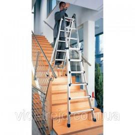 Телескопическая алюминиевая лестница 4х4