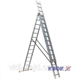 Лестница-стремянка 3х14 КРОК, алюминиевая